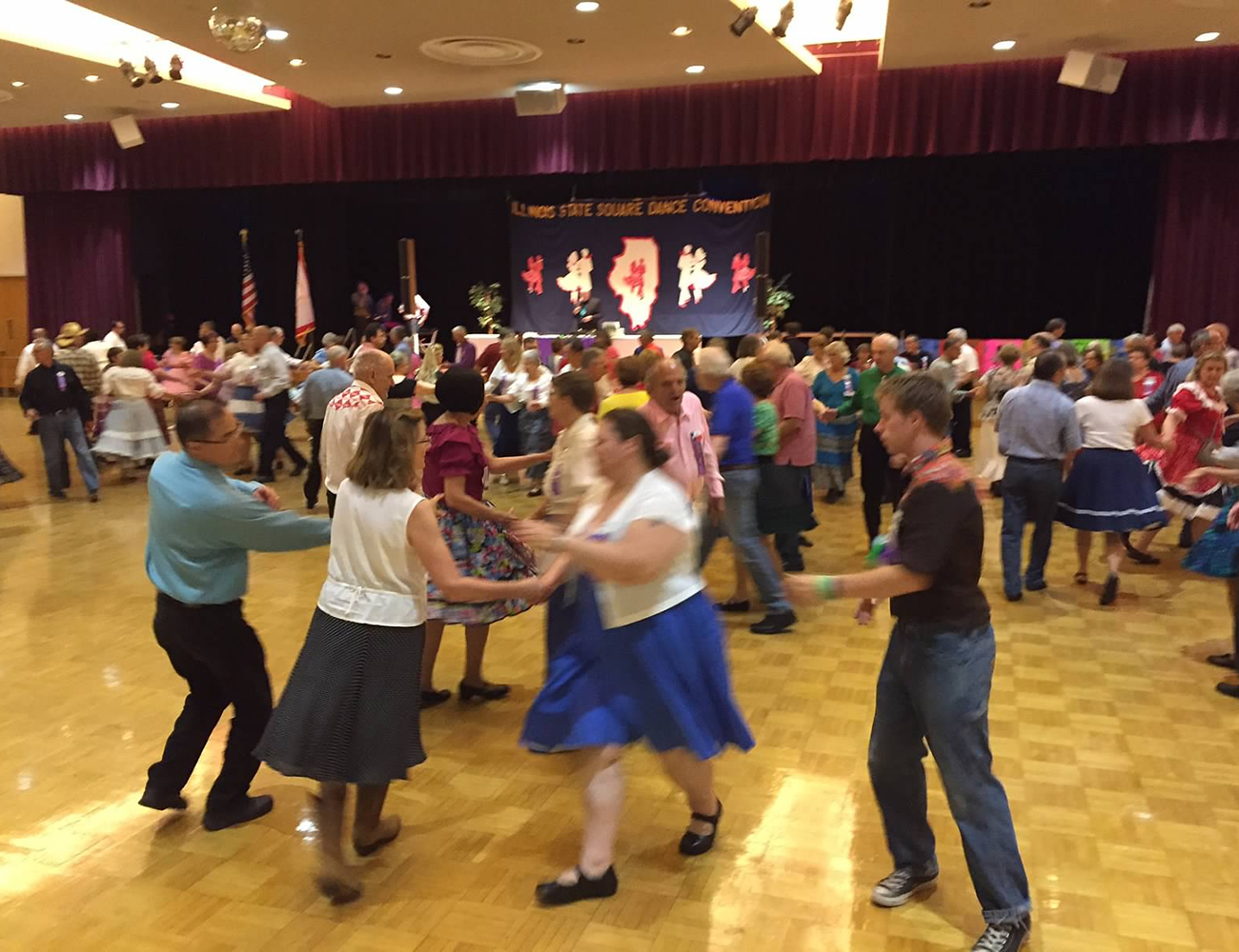 Some of our Club Members at Illinois State Square Dance Convention