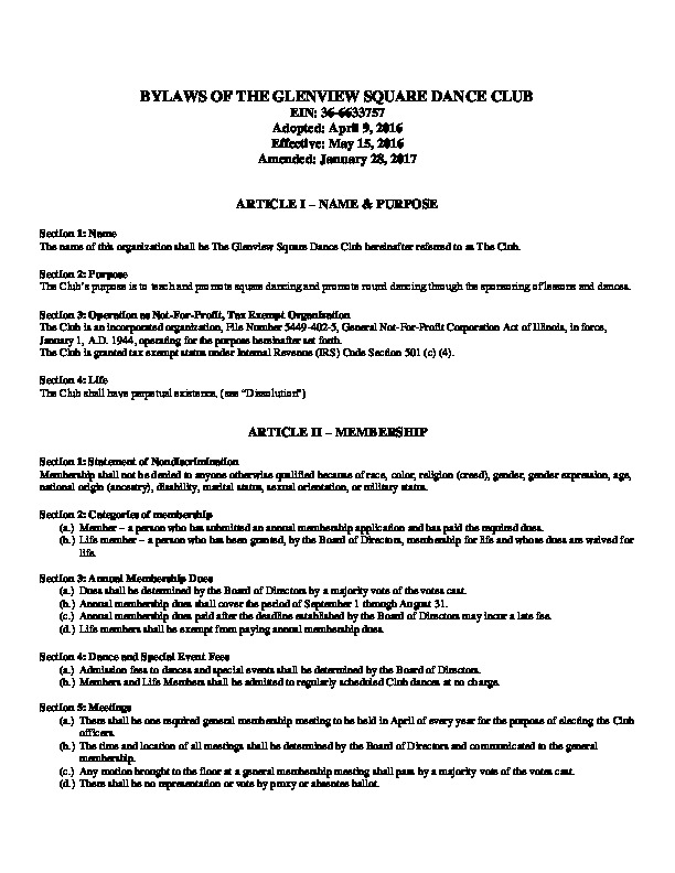Glenview Square Dance Club Bylaws.PNG