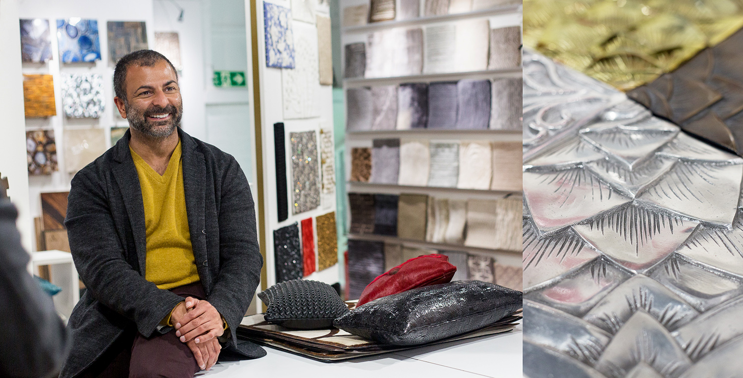 Fameed Khalique in his London Showroom for Design Hounds