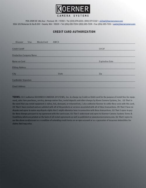 CC AUTHORIZATION