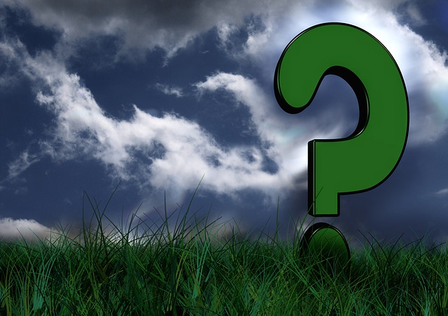 A giant question mark in a field wonders if your company needs a blog.