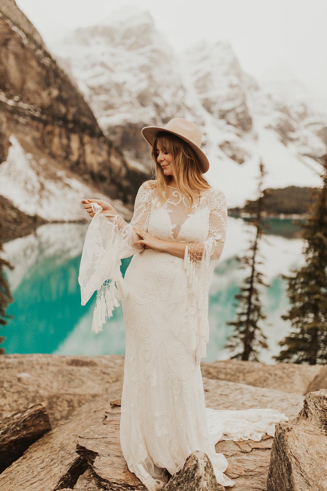 Banff Elopement l Lake Moraine Elopement l Vintage Bolo Tie l Pampas Grass Boho Boquet l Rue Design Wedding Dress l Banff Wedding Photographer l Destination Wedding Photographer l Katy Rose Photo_-97.jpg