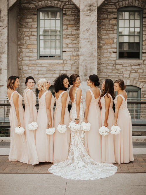 01a60d05c580 Real Wedding: Alli + Bo :: Classic + Industrial Minneapolis Wedding with  Blush Details