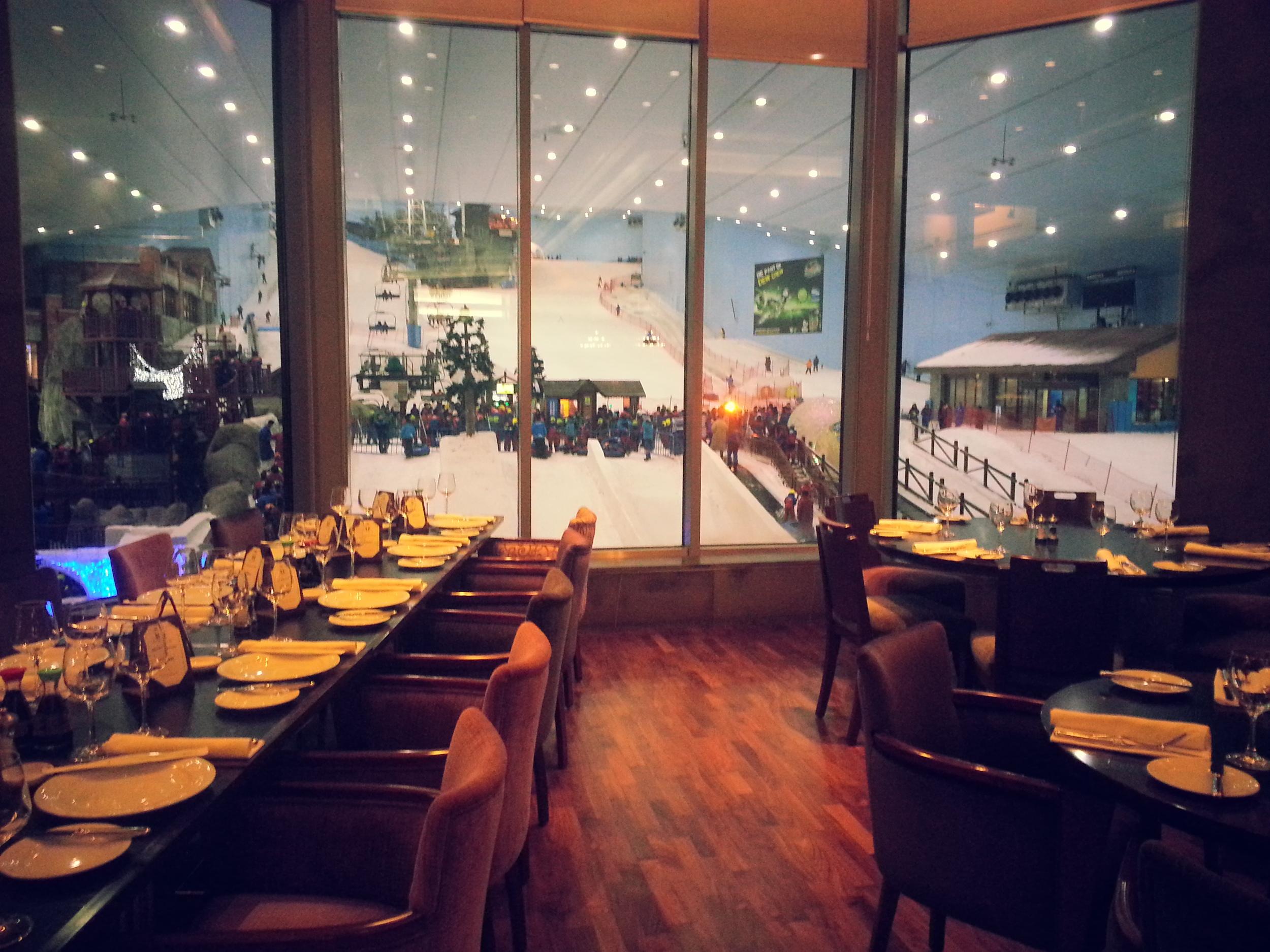Salmontini Restaurant at the Mall of Emirates in Dubai - the unique venue for Sushi Networking.