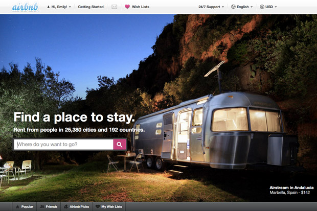 An Airbnb ad