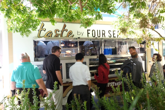 The Four Seasons Taste Truck: at each property the executive chef takes over the menu. Photo: Four Seasons Hotels & Resorts