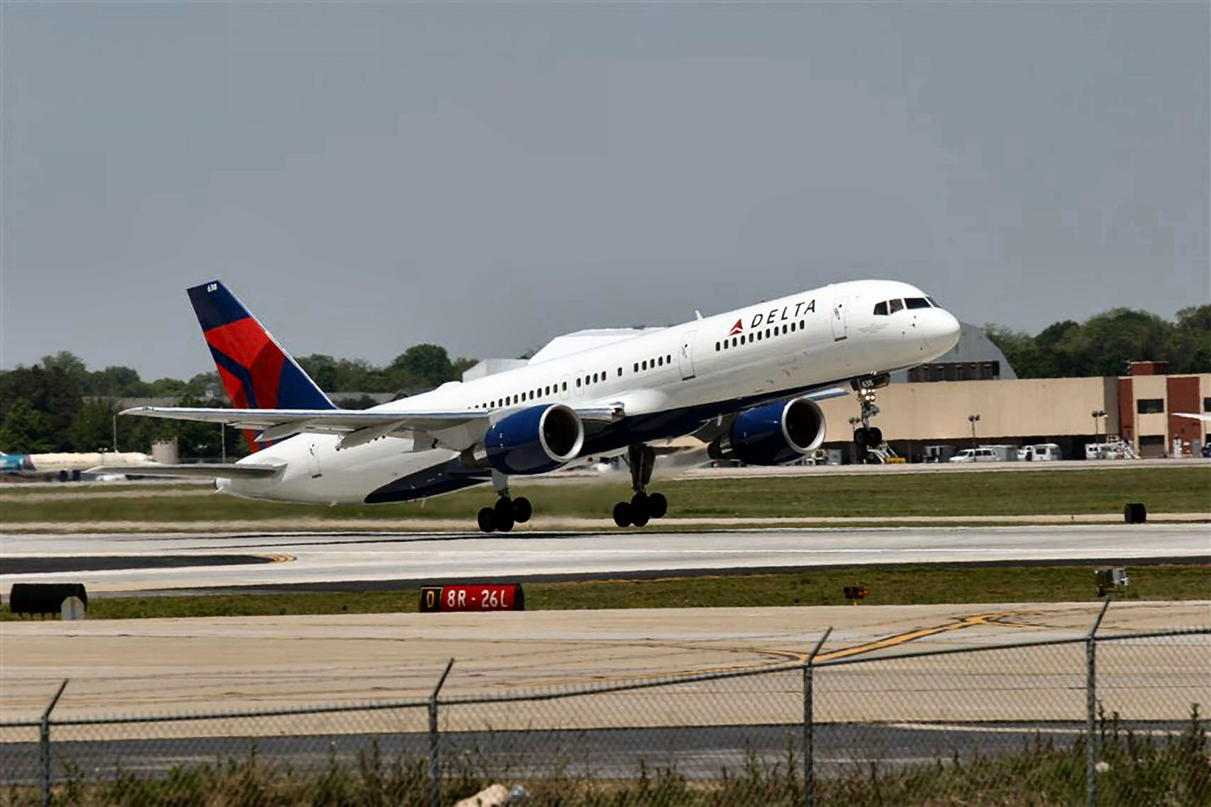 A Boeing 757 similar to the one that was diverted Monday evening to southeastern Washington. Credit: Delta