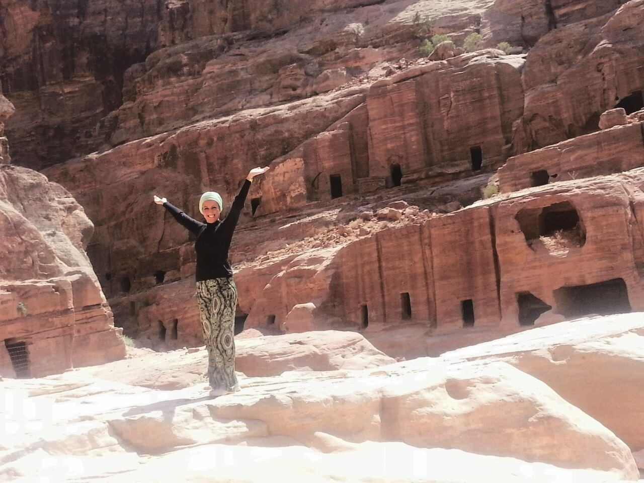 Travel pro and Savvy Angel, Zehra, on a recent visit to Jordan