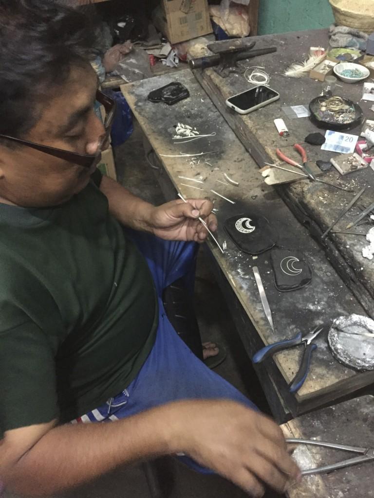 Jose Jorge Garcia Garcia showing me how a true master craftsman operates.