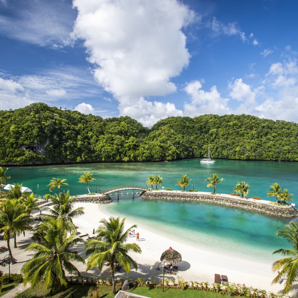 While sea water may be plentiful in Palau, drinking water is very scarce