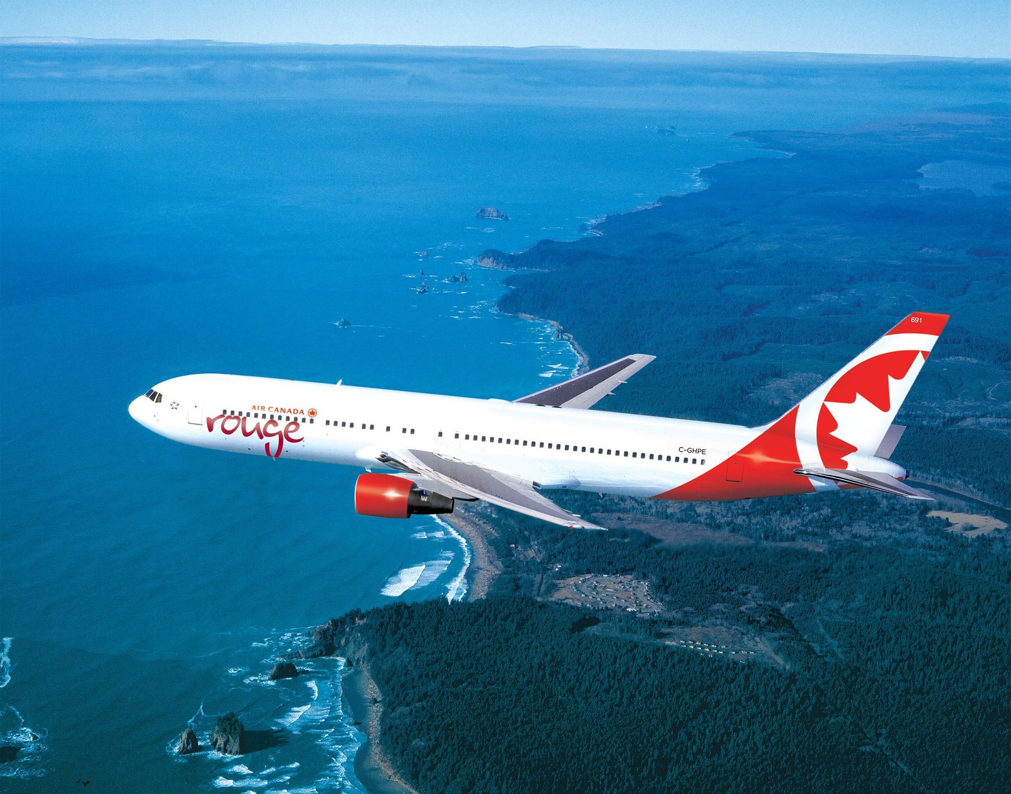 On long-haul flights Air Canada Rouge generally uses ageing Boeing 767-300ER aircraft