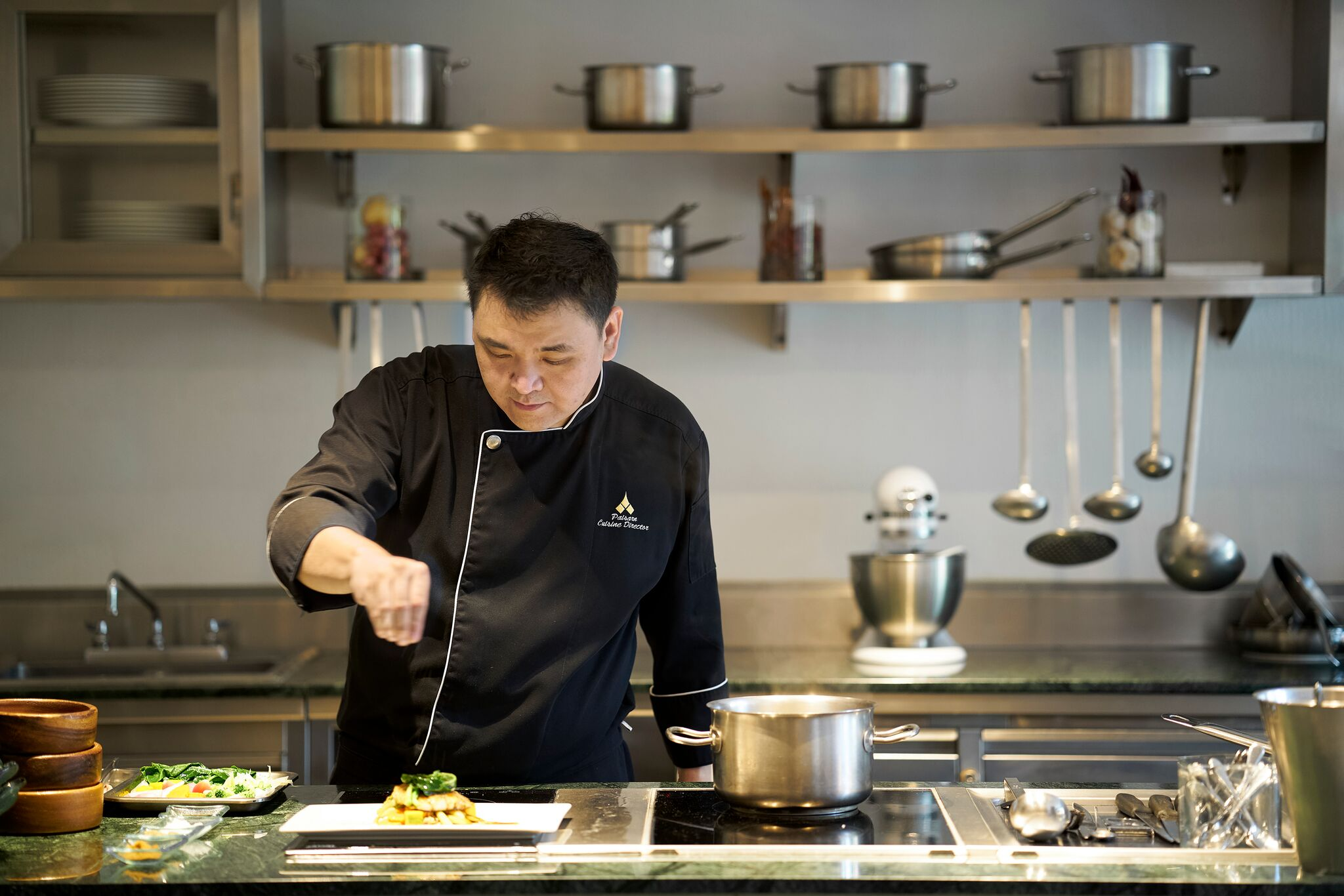 Spa food done the Thai way...is a beautiful thing! Cuisine Director, Chef Paisorn, works his magic in the kitchen.