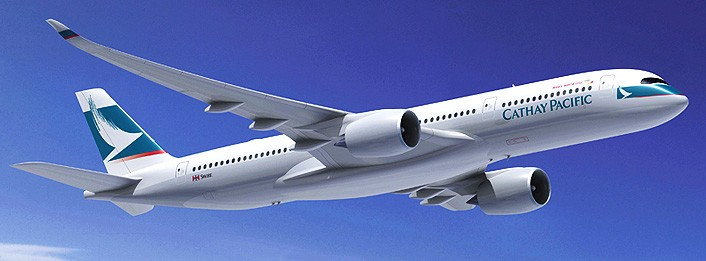 Cathay Pacific will deploy its new A350 for its new service to Tel Aviv. Credit: Cathay Pacific
