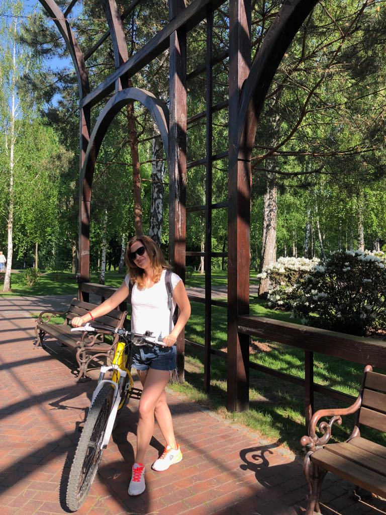 The author on vacation: stay fit by riding a bicycle