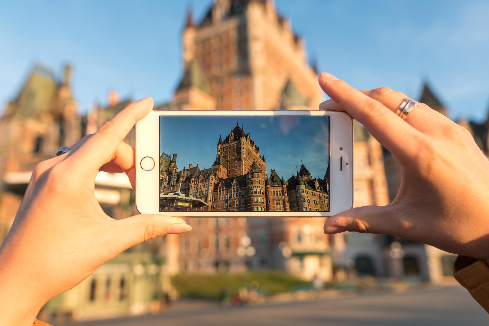 A Quebec City landmark, Fairmont Le Château Frontenac .  Credit:  Jeff Frenette Photography