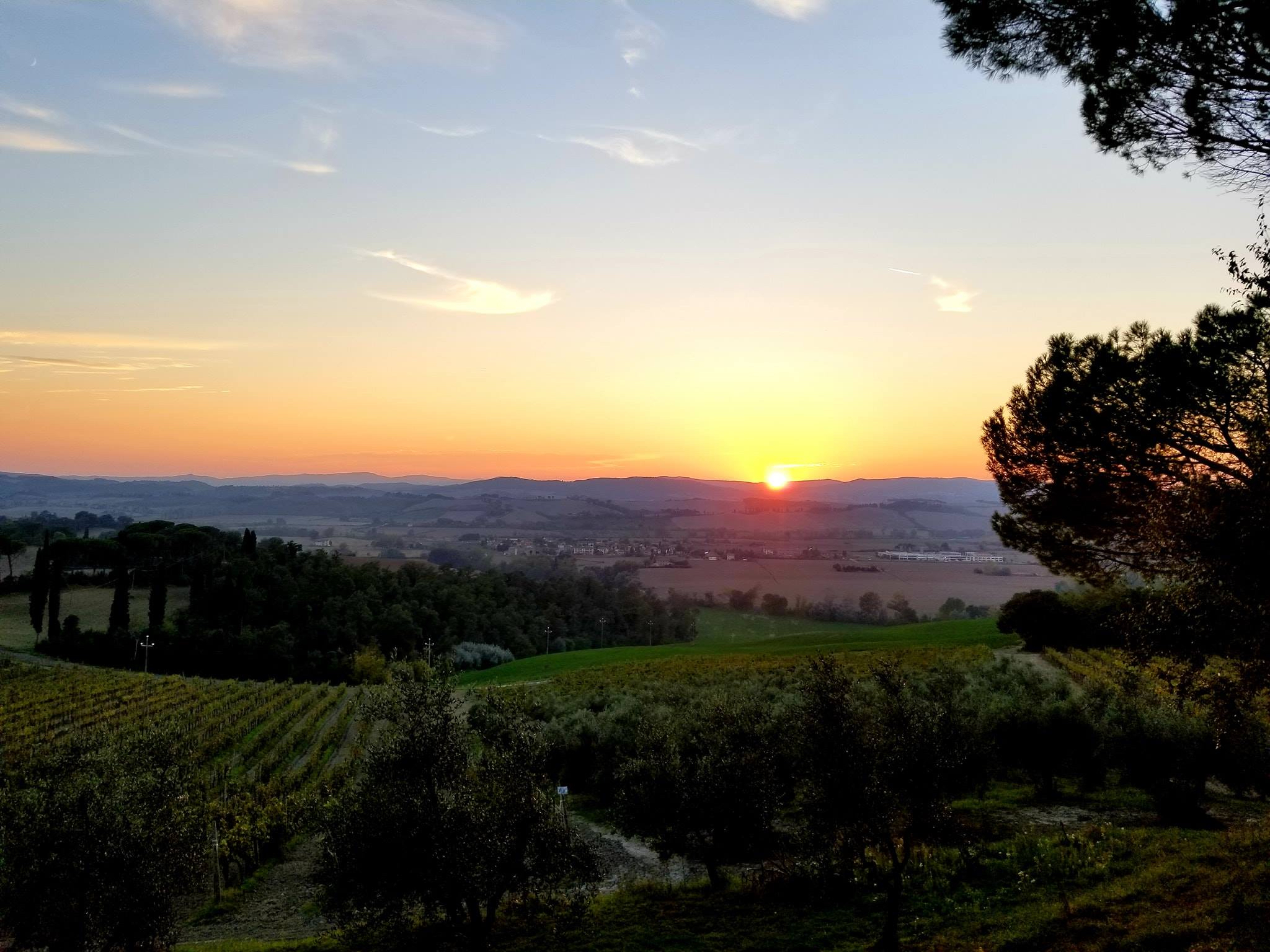 Perfection at dusk in the Tuscan countryside