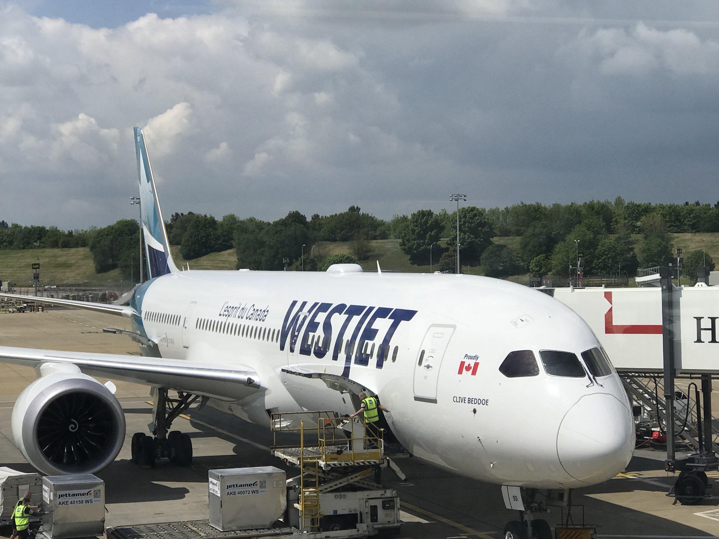 Our 787 Dreamliner was christened Clive Boddoe, after Westjet's founder.