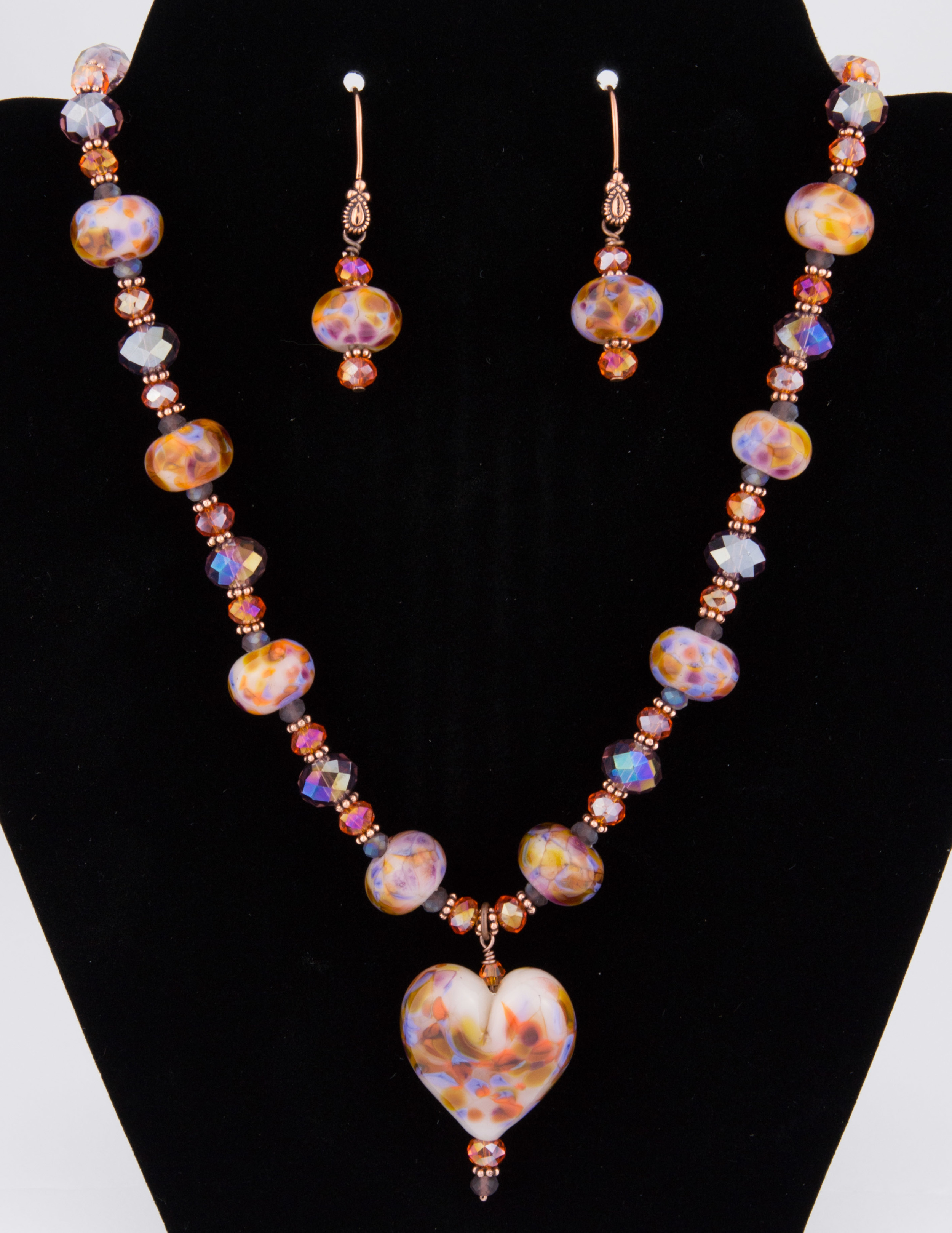 Necklace made for American Heart Association silent auction