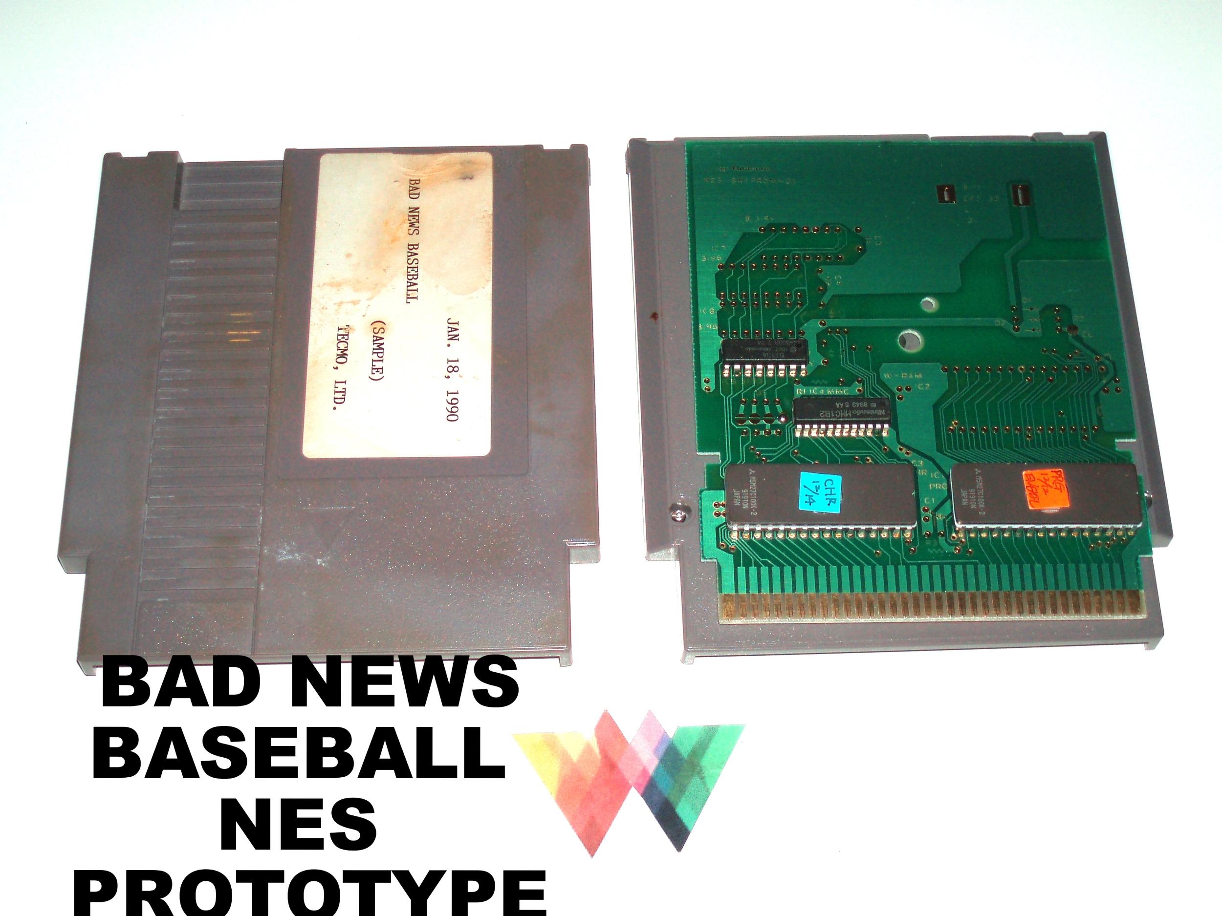Bad News Baseball NES Prototype