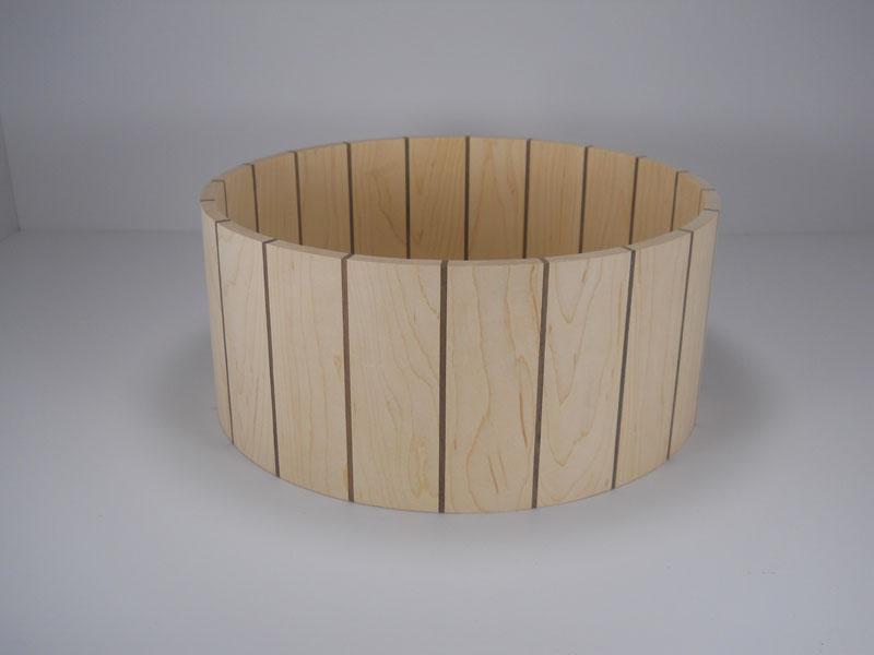 Maple with walnut stripes 6x14