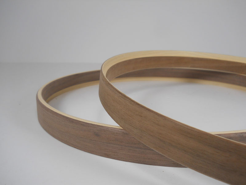 Walnut and maple Hide-A-Head hoops