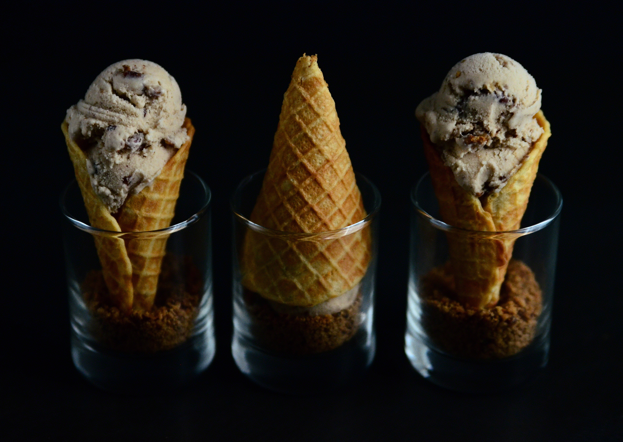 Butter Pecan Coconut Milk Ice Cream{dairy-free} + Mini Waffle Cones with Toasted Pecan Dipper   Seed Plant Water Grow