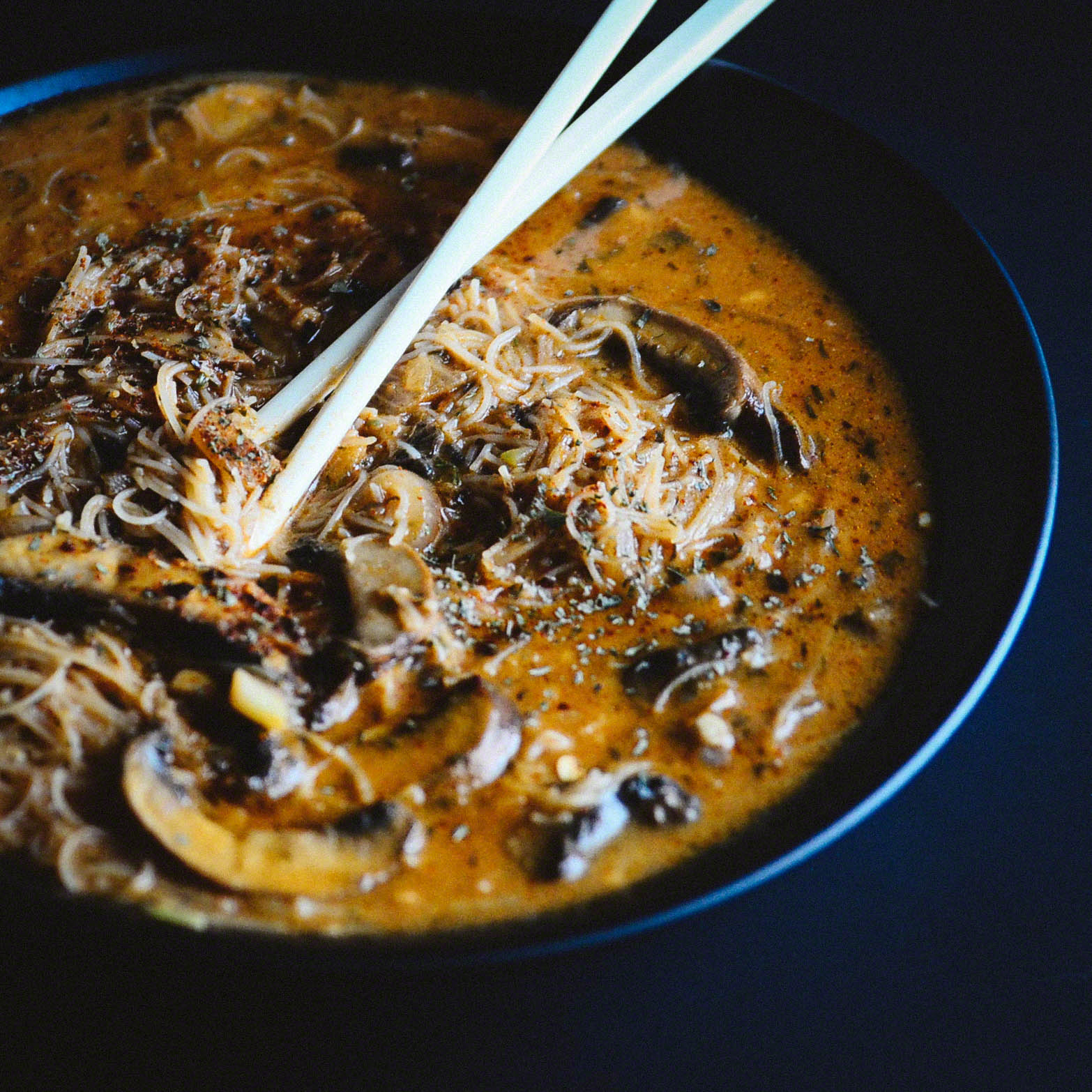 Bella and Brown Rice Noodle Red Curry(aka BBR) Broth Bowl | Seed Plant Water Grow