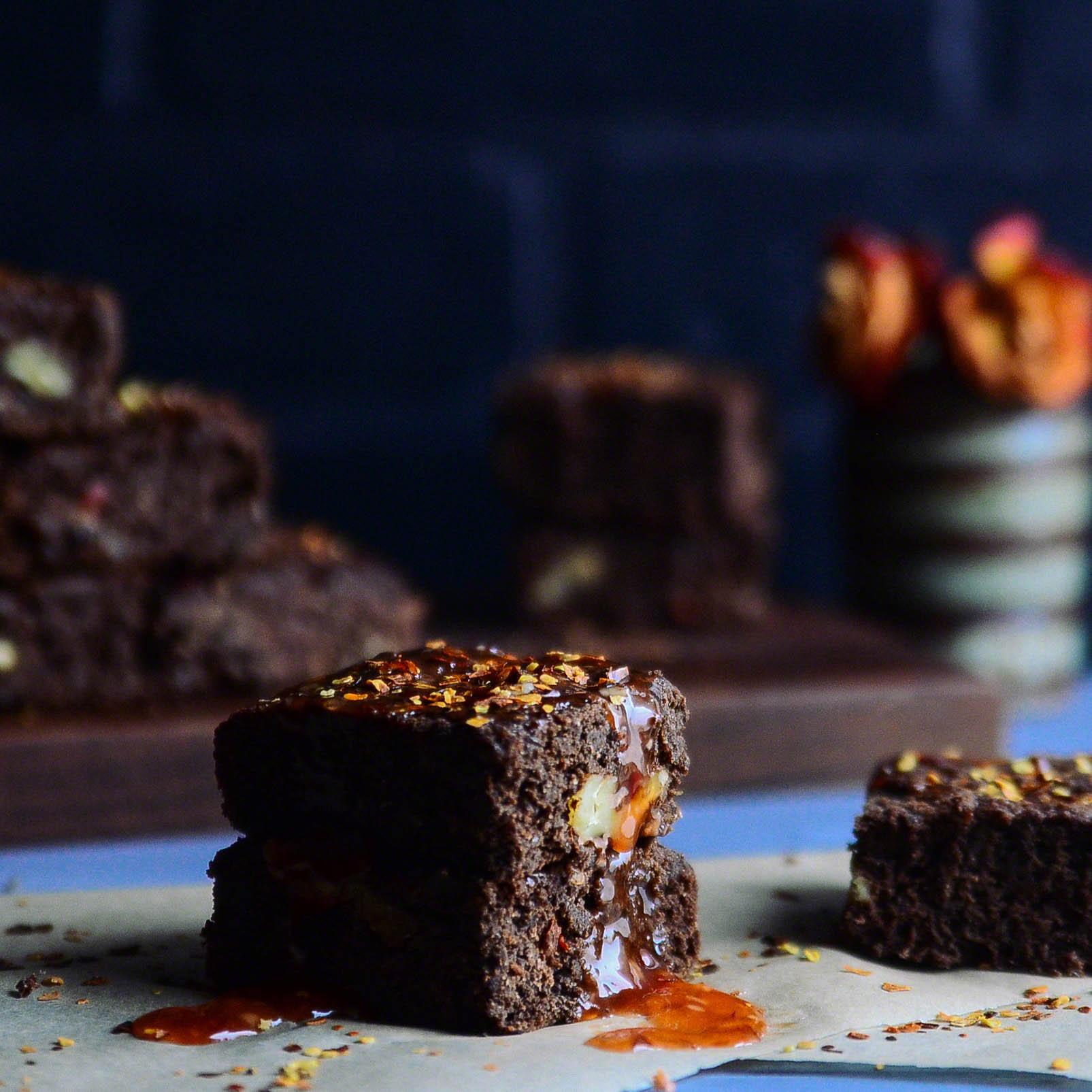 Road Trip Picnic Part 3:  Sweet Chili Walnut Brownies(Vegan & GF) | Seed Plant Water Grow