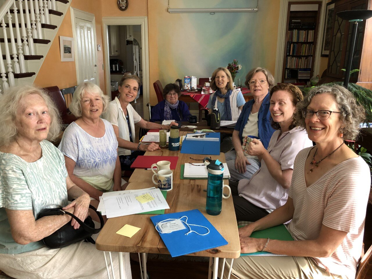 Your hard-working board, planning the Annual Members' Meeting