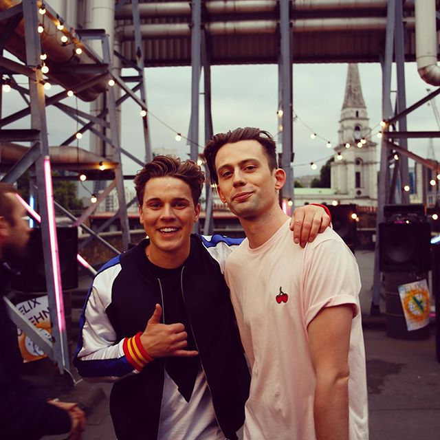 Hight & Felix Jaehn on the video shoot of their single 'Hot2Touch'