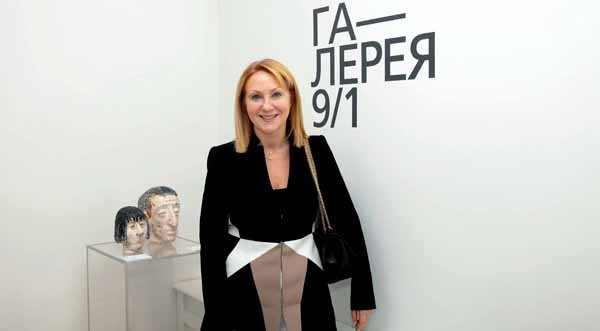 Maria Sokolova  , owner of the Gallery 9/1.