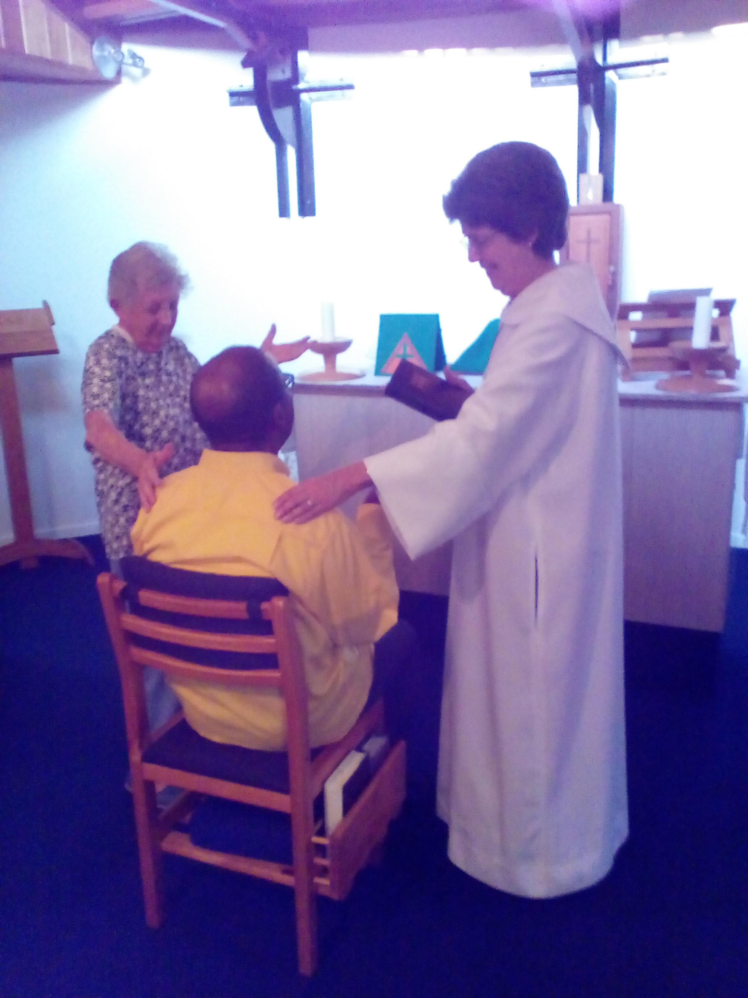 Prayer for healing in the Chapel