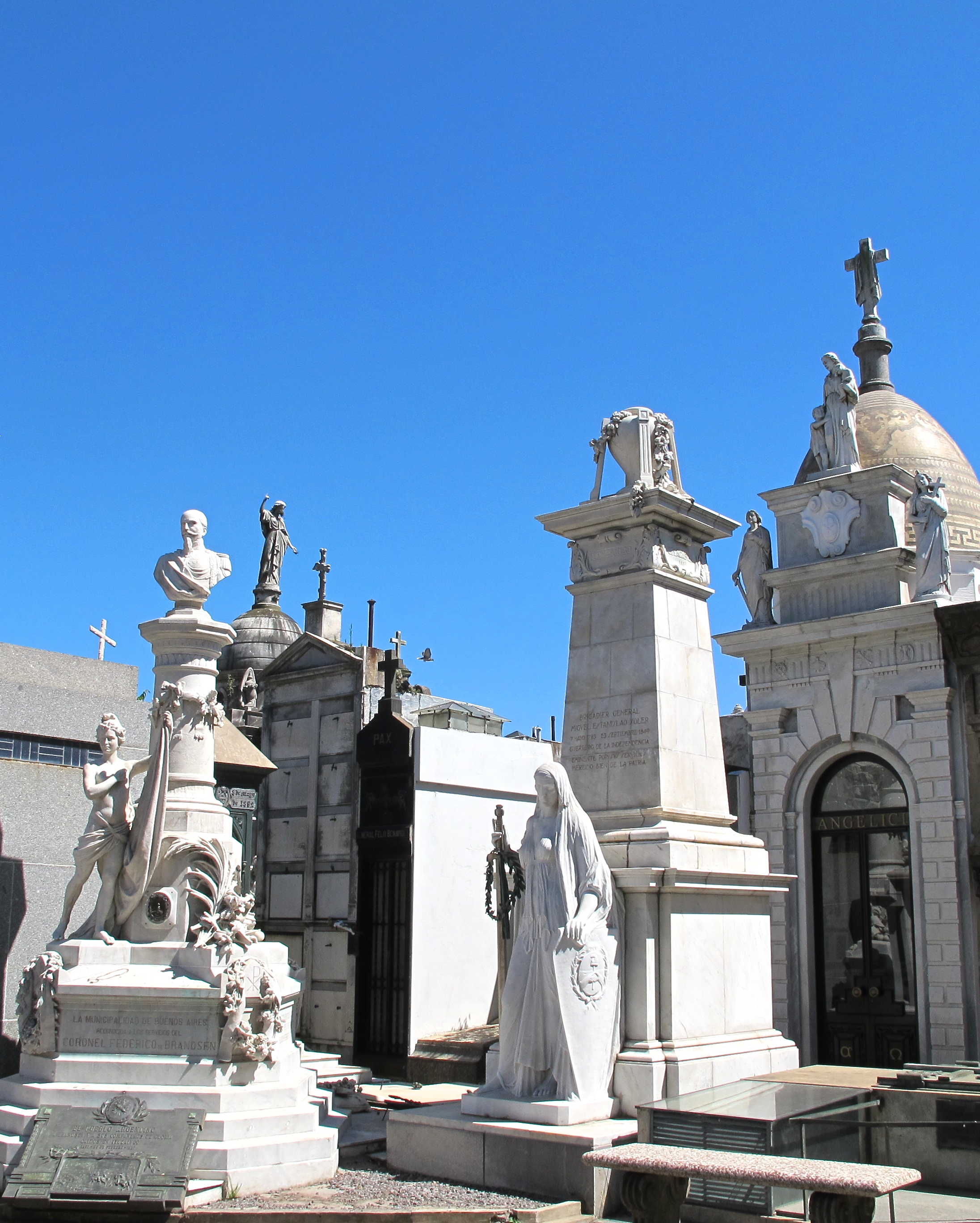 One of the most memorable high  lights from BA was the Recoleta Cemetery. A massive cemetery made up of breathtaking mausoleums housing some of the most famous, wealthy, and powerful Argentines.