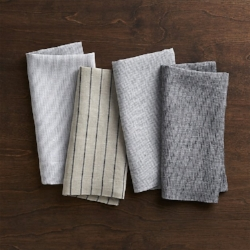 Set of Four Linen Cloth Napkins