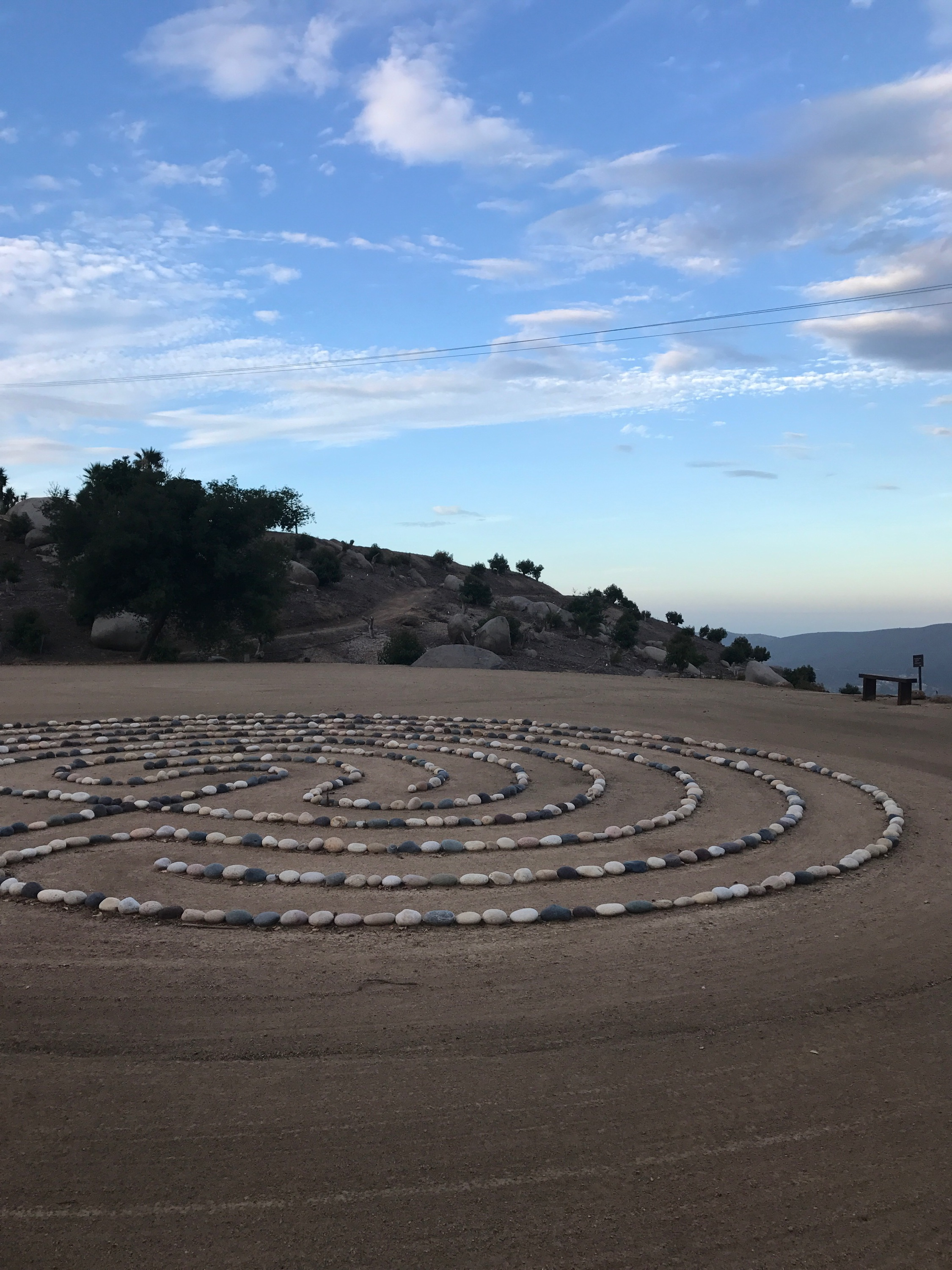 The labyrinth - one of the morning hike destinations.