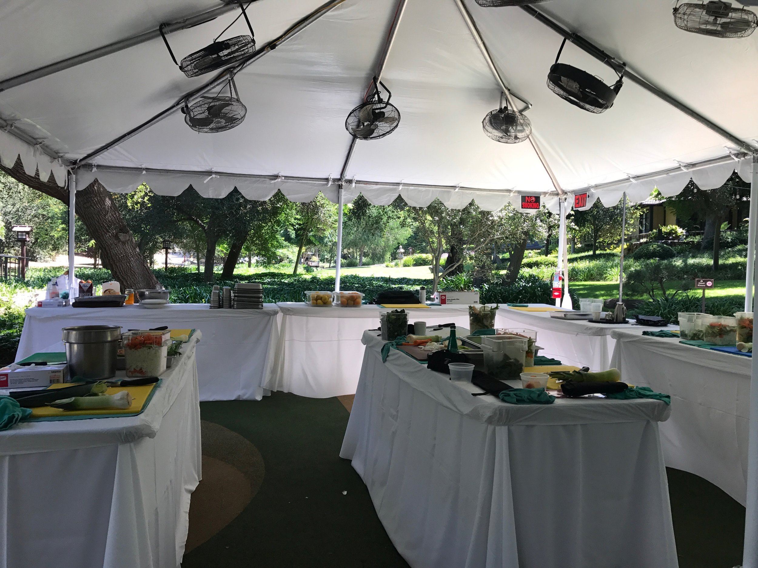 The outdoor kitchen where all of the classes were held.