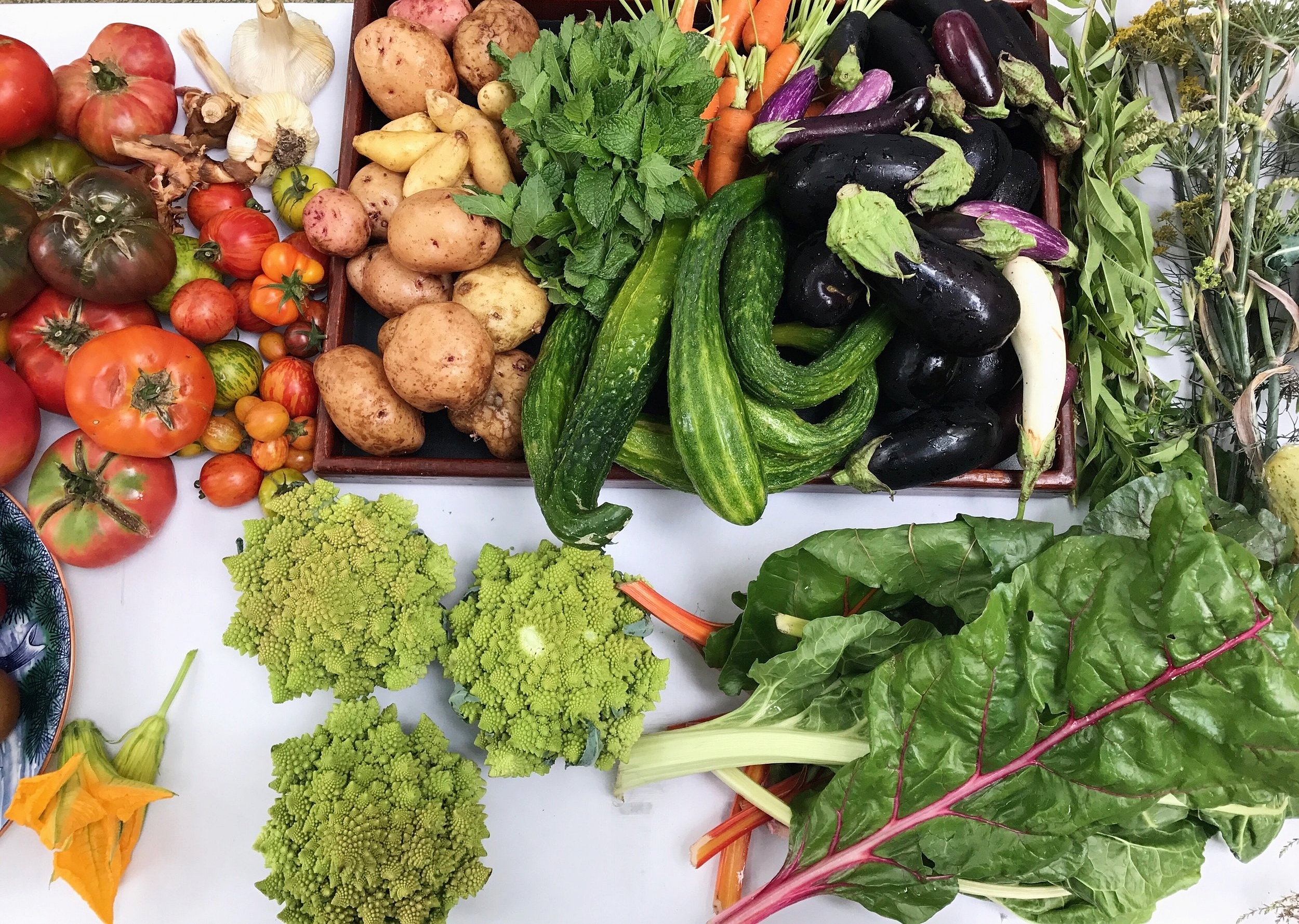 Daily cooking school ingredients