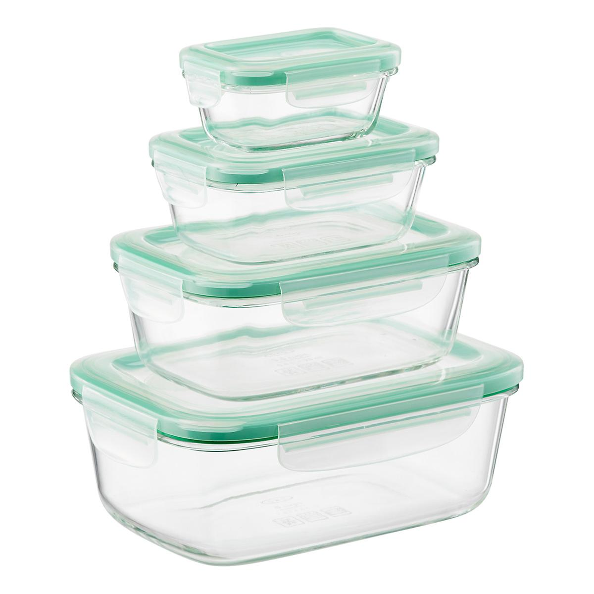 Glass Storage Containers (Kitchen staple. Perfect for meal prep and leftovers. We have 2 to 3 sets.)