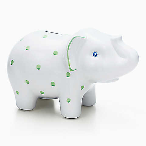 Tiffany & Co Piggy Bank (nice gift that you would not necessarily buy for your child. We received a duck!)