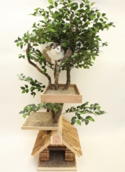 An Actual Tree House for Your Cat