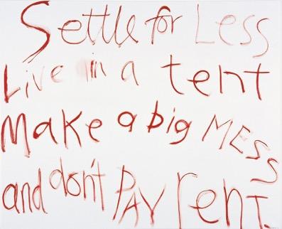 Angela Brennan, 'Settle for less' (2004)