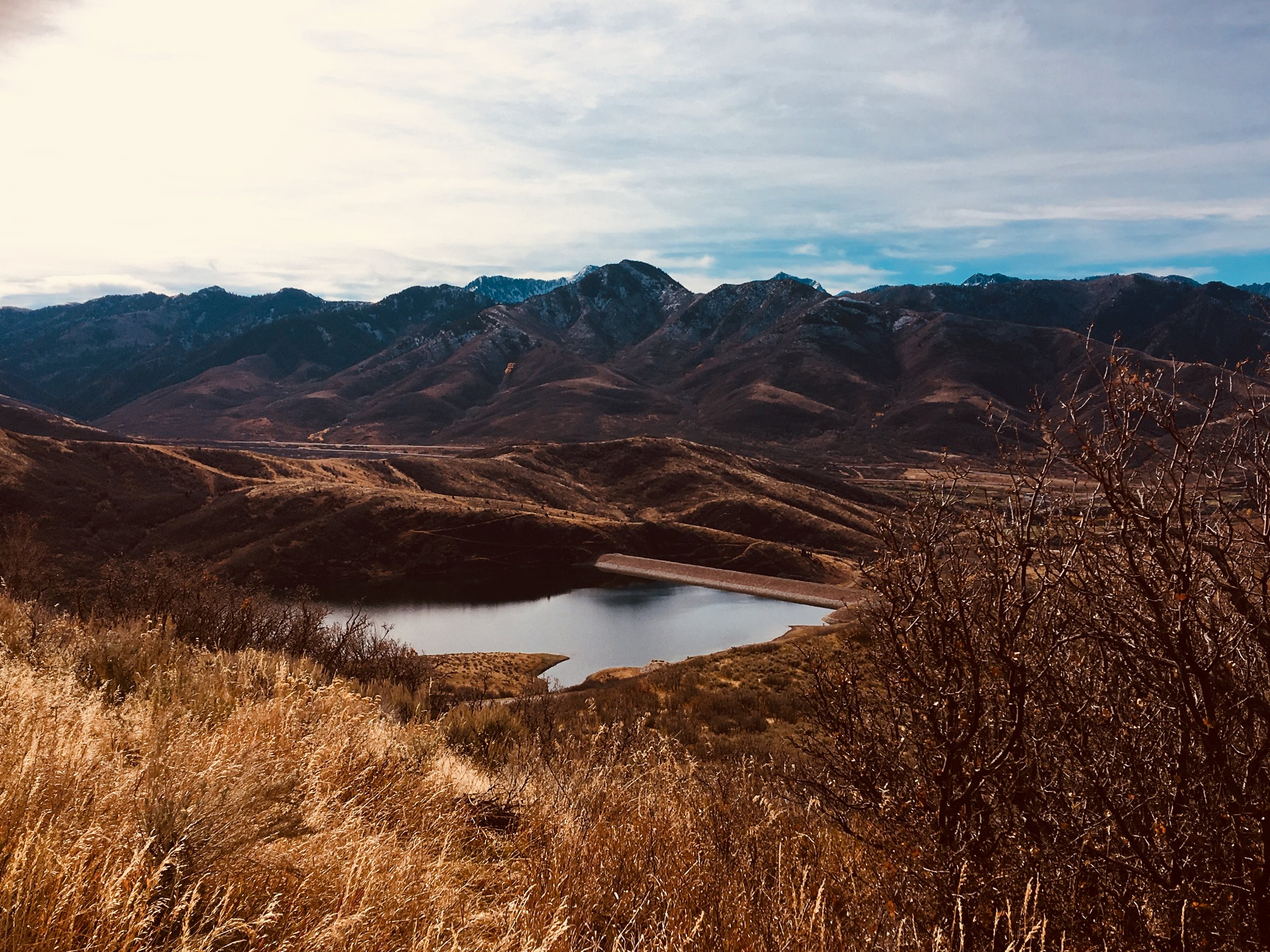 Emerging drought conditions in Utah's East Canyon Reservoir