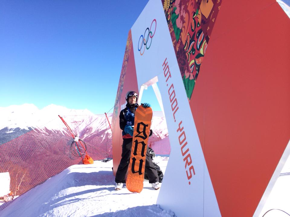 """Tom Franchett at the top of the Men's downhill says,"""" I wouldn't want to go down it"""". Photo by Tom Franchett."""