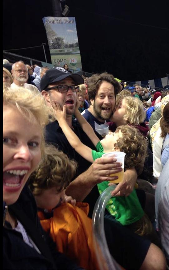 490 celebrates inside at Midway stadium. Photo by Jill Carvalho