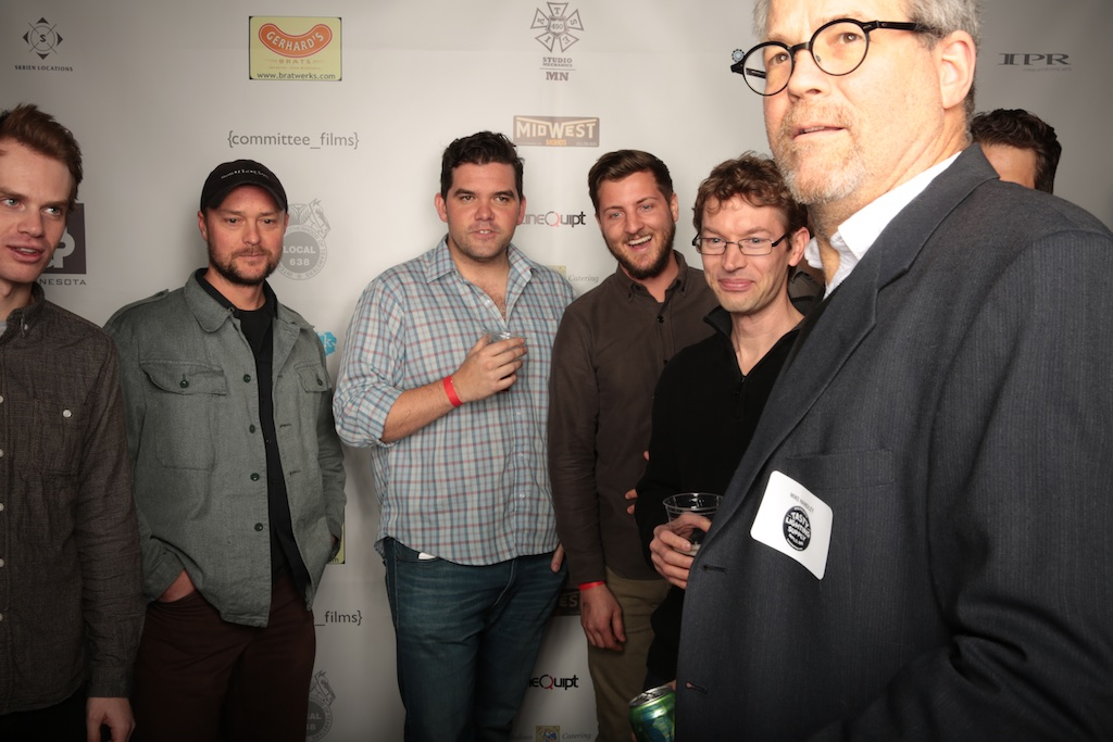Many members of the camera dept. pose with union gaffer Mike Handley.