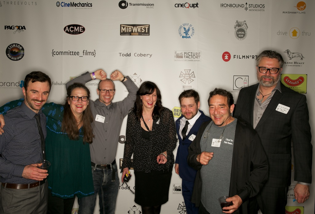 the Executive Board of Local 490 celebrates on the Red Carpet!