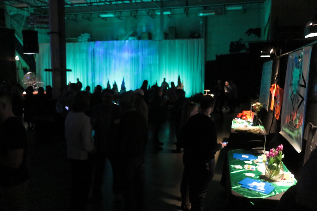 The Great Room at Cinequipt was transformed by IATSE decorators,  Props Metropolis.