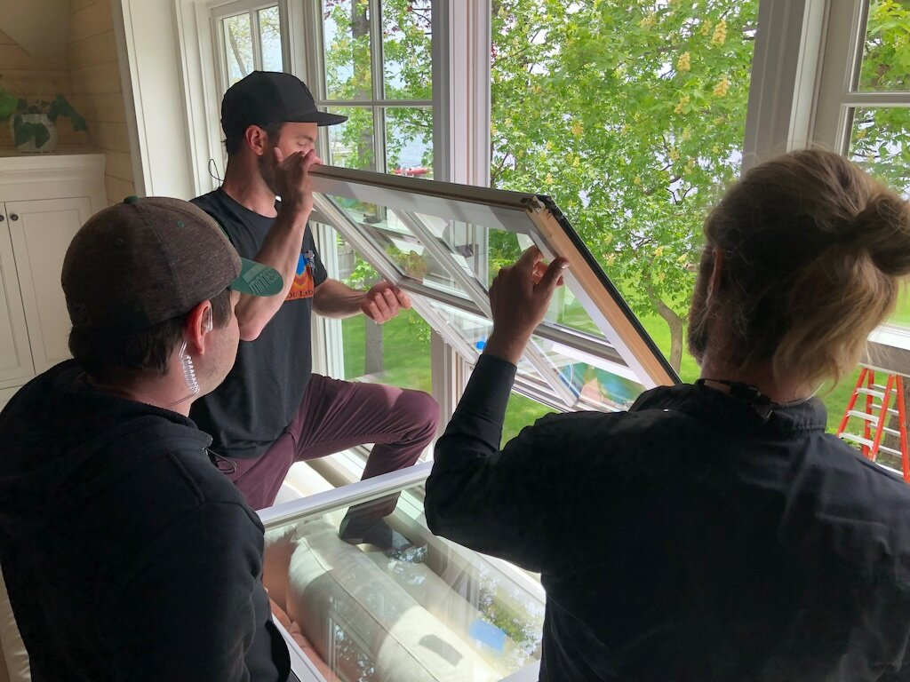 490 art dept lead man Brian Simpson and his team adjust product for Marvin Windows.