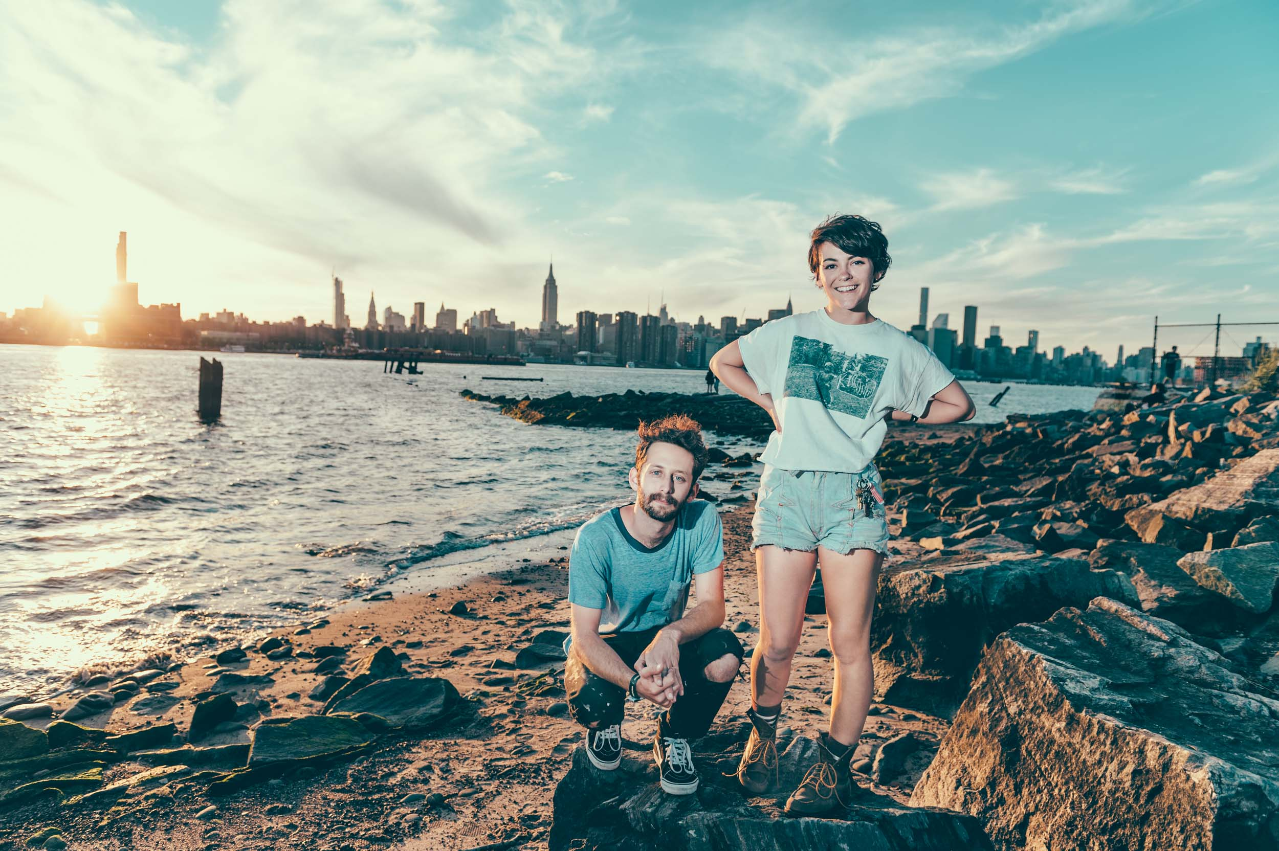 Diet Cig's Noah Bowman and Alex Luciano photographed by Chad Kamenshine