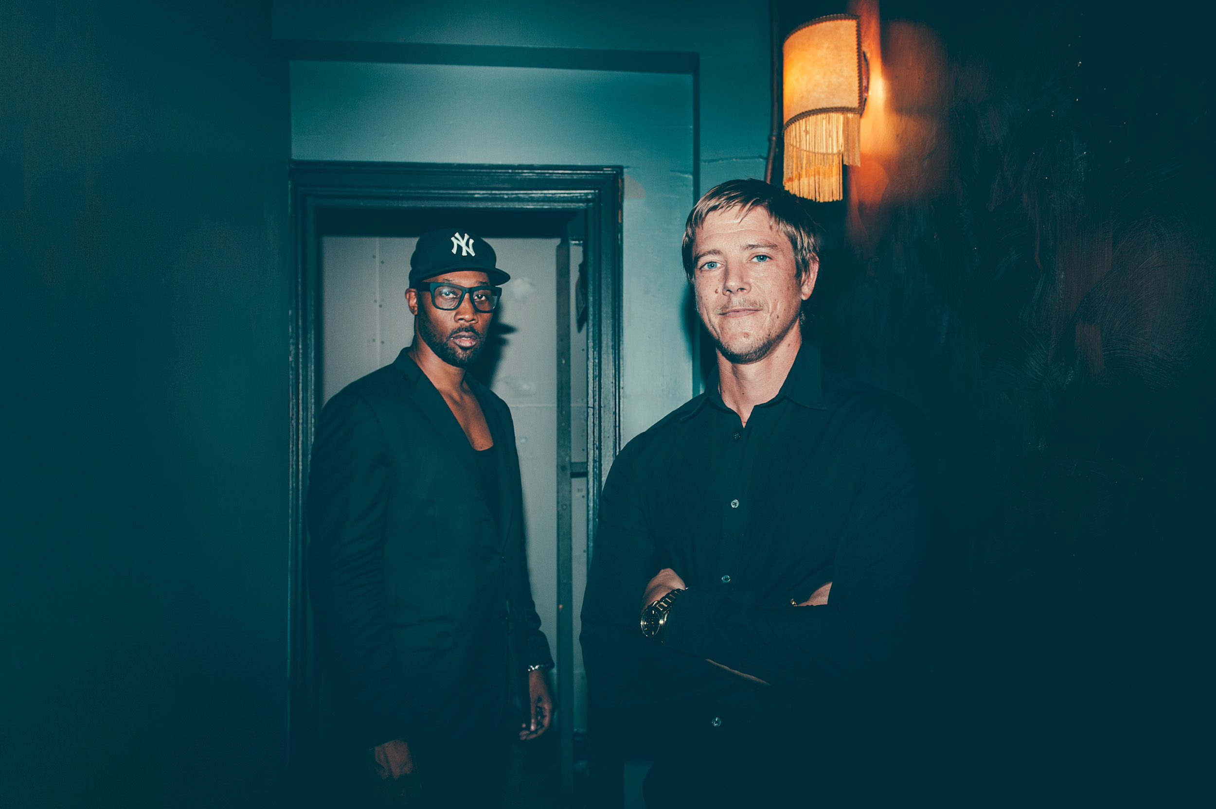 RZA and Paul Banks photographed by Chad Kamenshine
